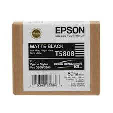 Epson T5808 Matte Black Ink Cartridge C13T580800