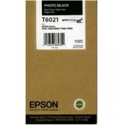 Photo Black Epson T6021 Ink Cartridge (C13T602100 Printer Cartridge)