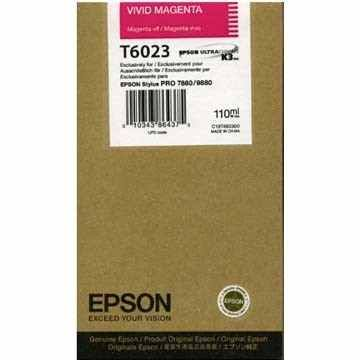 Magenta Epson T6023 Ink Cartridge (C13T602300 Printer Cartridge)