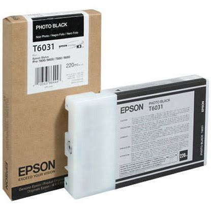 Photo Black Epson T6031 Ink Cartridge (C13T603100 Printer Cartridge)