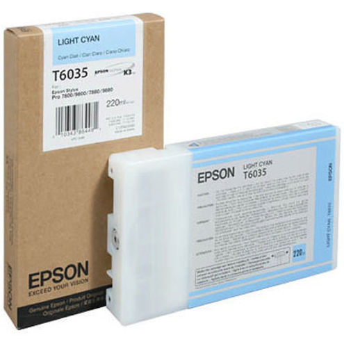 Light Cyan Epson T6035 Ink Cartridge (C13T603500 Printer Cartridge)