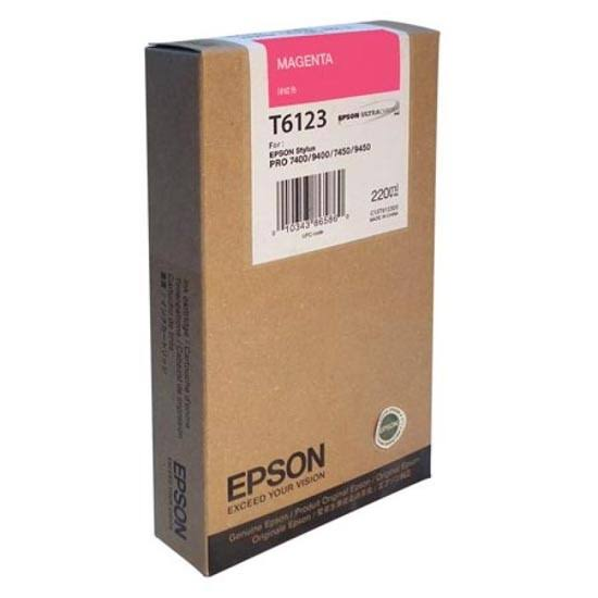 Epson T6123 UltraChrome K3 Magenta Ink Cartridge C13T612300, 220ml