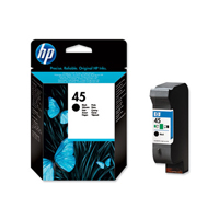 HP 45 Standard Capacity Black Ink Cartridge - 51645G