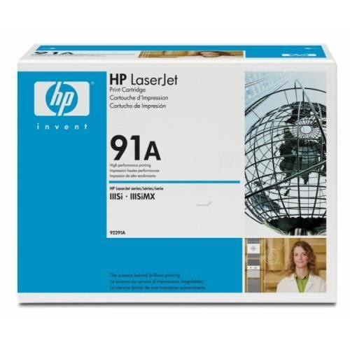 HP Genuine No 91A Laser Toner Cartridge, 10.2K Page Yield