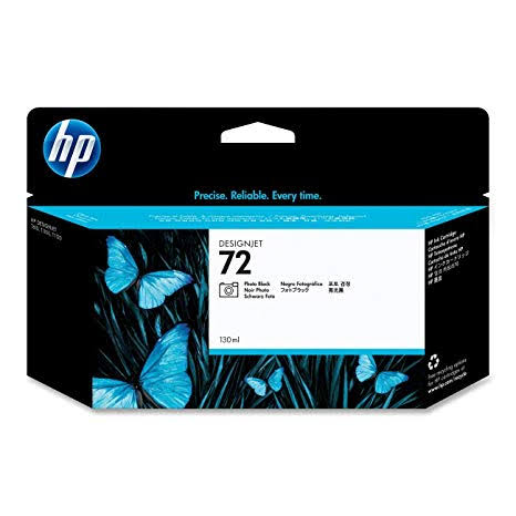 HP 72 High Capacity Photo Black Ink Cartridge, 130ml