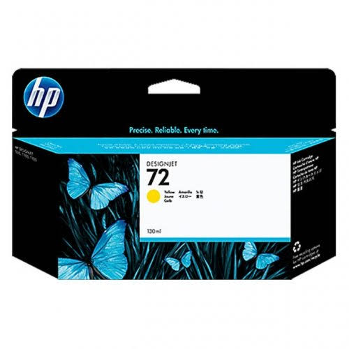 HP 72 High Capacity Yellow Ink Cartridge, 130ml