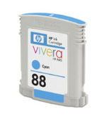HP 88 Standard Capacity Vivera Cyan Ink Cartridge Blister Packaging
