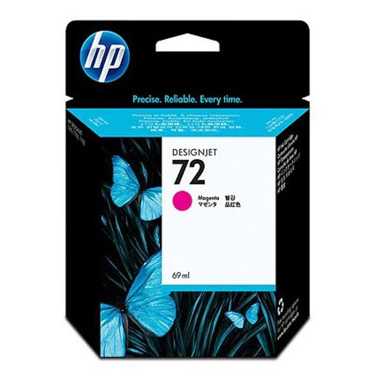 HP 72 Standard Capacity Magenta Ink Cartridge, 69ml