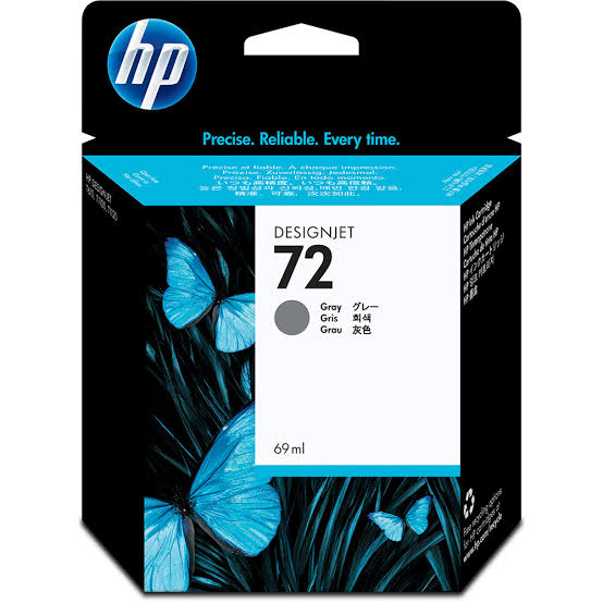 HP 72 Standard Capacity Grey Ink Cartridge, 69ml