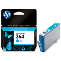 HP 364 Standard Capacity Cyan Ink Cartridge - CB318E