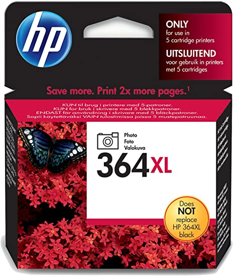 HP 364XL Extra Large Capacity Photo Black Ink Cartridge - CB322E
