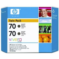 HP CB339A Twin Pack Matte Black (70) Ink Cartridges - CB 339A