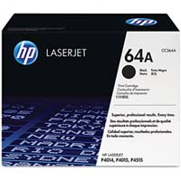HP CC364A Black (64A) Toner Cartridge - CC 364A