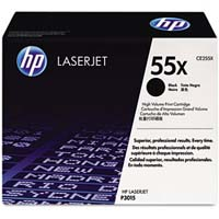 HP CE255X High Capacity Black (55X) Toner Cartridge - CE 255X