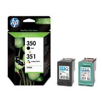 HP 350 Standard Capacity Black and 351 Standard Capacity Colour Ink Cartridges - SD412E