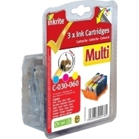 Inkrite Premium Quality Multi Pack BCI-6 Cyan, Magenta, Yellow Ink Cartridges