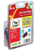 Inkrite Premium Quality CLI 521C Cyan Ink Cartridge ( 521 Cyan )