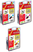 Inkrite Premium Quality CLI 521 Cyan, Magenta, Yellow Ink Cartridges ( 521 C/M/Y )