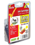 Inkrite Premium Quality CLI 521Y Yellow Ink Cartridge ( 521 Yellow )