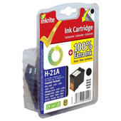Inkrite Premium Quality Black Ink Cartridge for HP No. 21