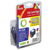 Inkrite Premium Quality Colour Ink Cartridge for HP No. 22