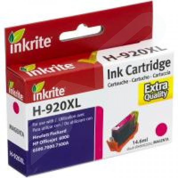 Inkrite Compatible 920XL Magenta Ink Cartridge for HP CD973A