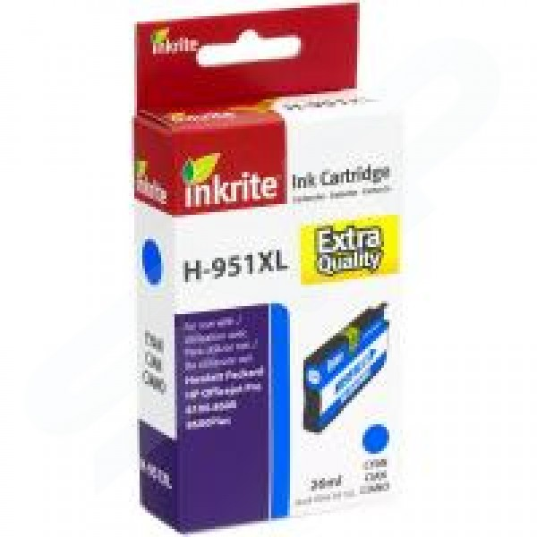 Inkrite Compatible 951XL High Capacity Cyan Ink Cartridge for HP CN046A