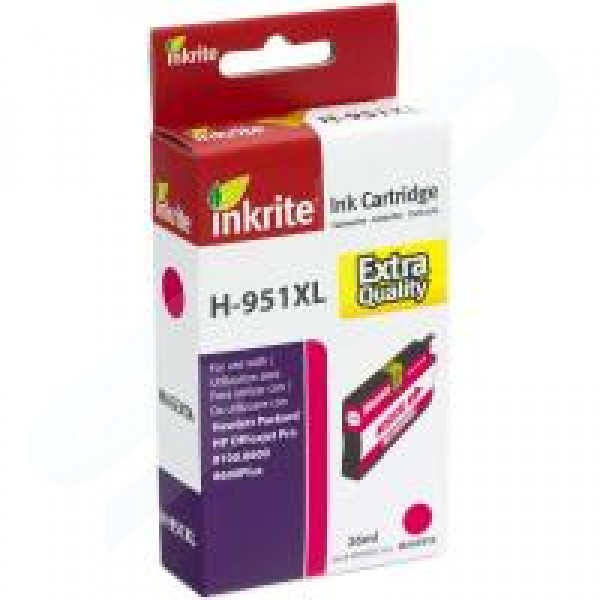 Inkrite Compatible 951XL High Capacity Magenta Ink Cartridge for HP CN047A
