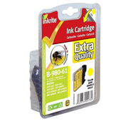 Inkrite Premium Quality LC-980 / LC-1100 Yellow Ink Cartridge