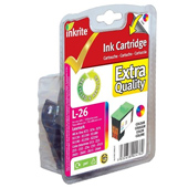Inkrite Premium Quality Colour Ink Cartridge (Alternative to Lexmark No 26, 10N0026E)