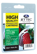 M26 Replacement Black Ink Cartridge (Alternative to HP No 26, 51626A)