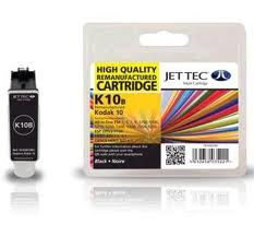Jettec K10B Replacement Black Ink Cartridge (Alternative to Kodak 10 3949914)