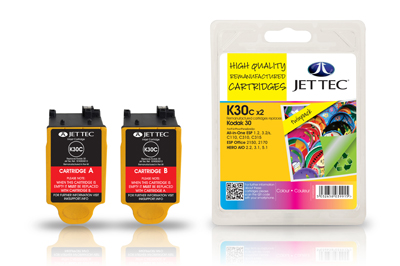 Jettec K30CX2 Replacement Twin Pack Colour Ink Cartridges (Alternative to Kodak 30 8898033)