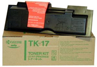 Kyocera TK17 Black Toner Cartridge - TK 17, 6K Page Yield