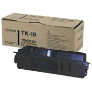 Kyocera TK18 Black Toner Cartridge - TK 18, 7.2K Page Yield