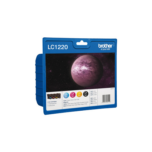 Brother LC1220 Multipack Black, Cyan, Magenta and Yellow Ink Cartridges, LC-1220