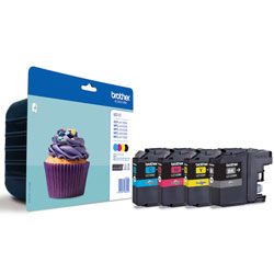 Brother LC 123 Multipack Black, Cyan, Magenta and Yellow Ink Cartridges