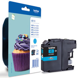 Brother Cyan Ink Cartridge, LC-123C