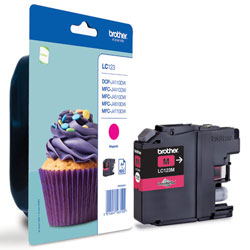 Brother Magenta Ink Cartridge, LC-123M