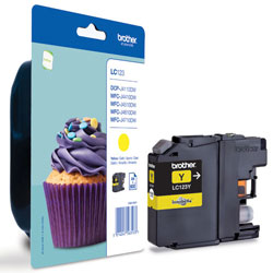 Brother Yellow Ink Cartridge, LC-123Y