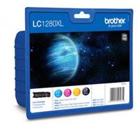 Brother Quad Pack High Yield Black, Cyan, Magenta, Yellow Ink Cartridges