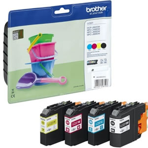 Brother LC221 Quad Pack Colour Ink Cartridge Multipack (LC221BK/LC221C/LC221M/LC221Y)