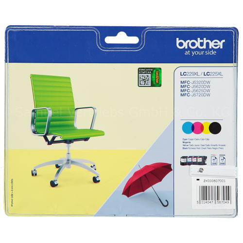 Brother LC229XL Ink Cartridges Multipack, LC-229XLVALBP