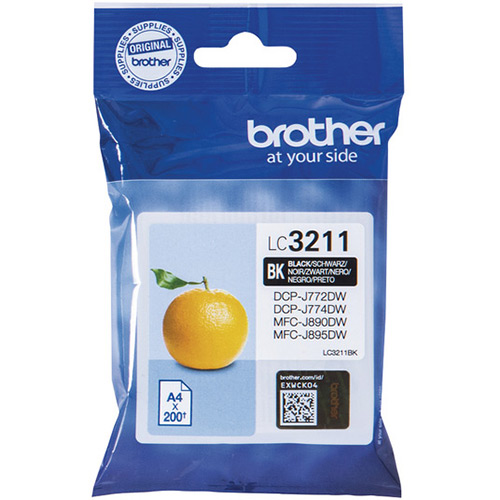 Brother LC3211BK Black Ink Cartridge - LC-3211BK Inkjet Printer Cartridge