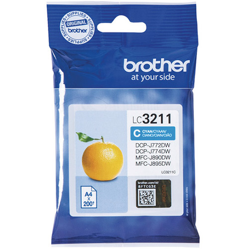 Brother LC3211C Cyan Ink Cartridge - LC-3211C Inkjet Printer Cartridge