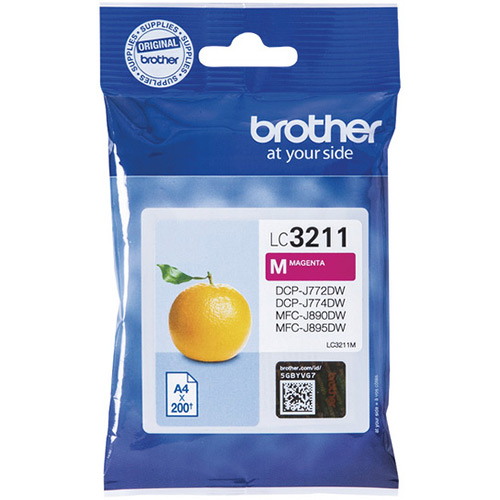 Brother LC3211M Magneta Ink Cartridge - LC-3211M Inkjet Printer Cartridge