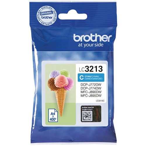 Brother LC3213C High Capacity Cyan Ink Cartridge - LC-3213C Inkjet Printer Cartridge