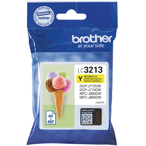 Brother LC3213Y High Capacity Yellow Ink Cartridge - LC-3213Y Inkjet Printer Cartridge