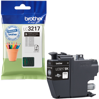 Brother LC3217BK Ink Cartridge Black, LC-3217BK Inkjet Printer Cartridge