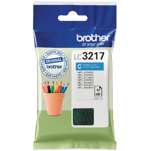 Brother LC3217 Ink Cartridge Cyan, LC-3217C Inkjet Printer Cartridge